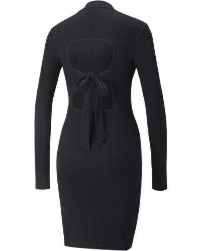 Платье макси с длинными рукавами - черное Puma