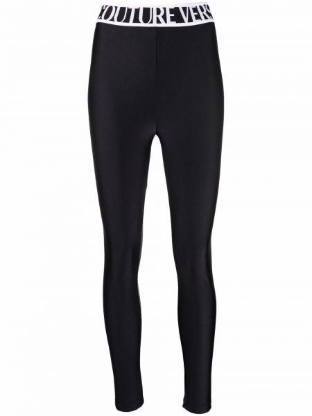 Джинсовые леггинсы - черные Versace Jeans Couture