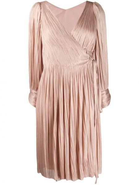Шелковое платье макси - розовое Maria Lucia Hohan