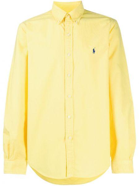 Koszula z długim rękawem długa żółty Ralph Lauren