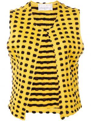 Желтый топ винтажный Krizia Pre-owned