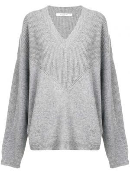 Sweter z kaszmiru z dekoltem w szpic Givenchy