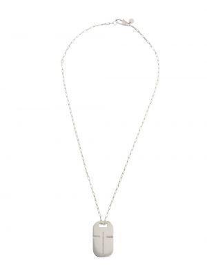 Naszyjnik z diamentem srebrny Tateossian