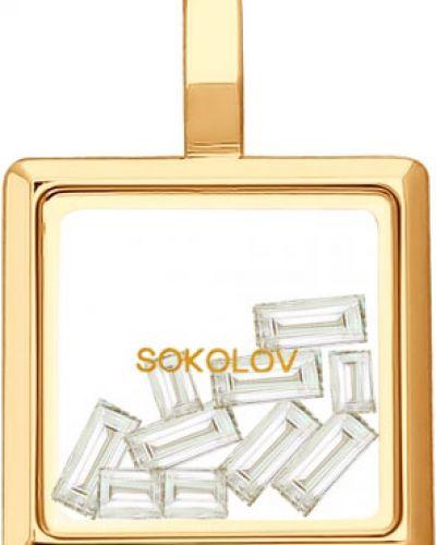 Золотая подвеска золотой вечерний Sokolov