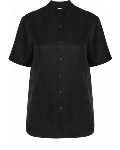 Czarna koszula krótki rękaw Anine Bing