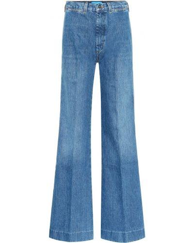 Джинсы клеш расклешенные - синие Mih Jeans