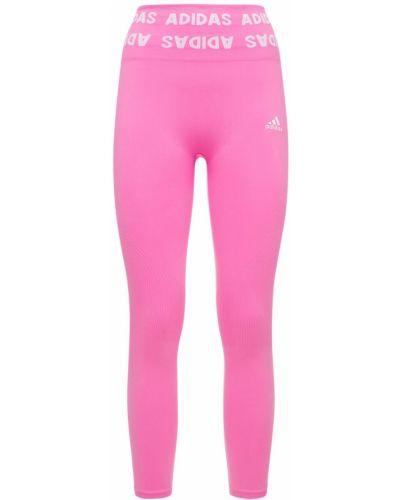 Różowe rajstopy Adidas Performance