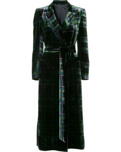 Коралловое длинное пальто с воротником с поясом Blazé Milano