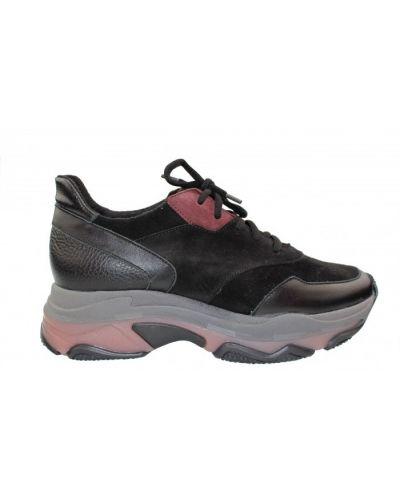 Кожаные кроссовки - черные Rylko