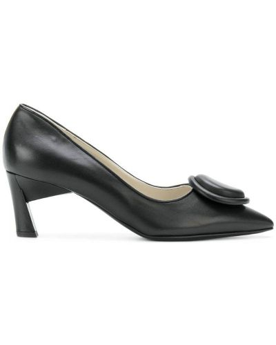 Кожаные туфли на каблуке с пряжкой Marni