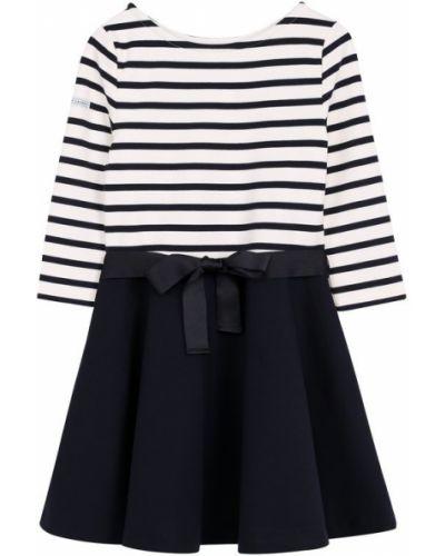 Платье макси в полоску с поясом Polo Ralph Lauren