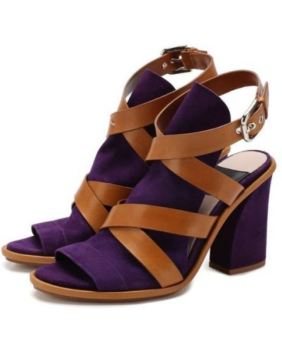 Босоножки фиолетовый замшевые Premiata