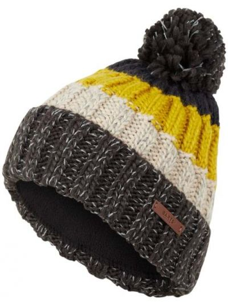 Ciepły żółty czapka baseballowa z pomponem Barts