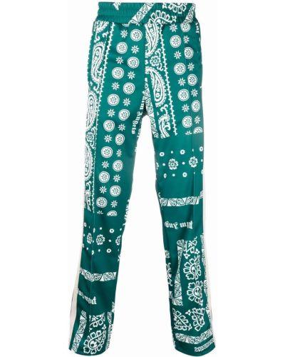Spodnie z printem - zielone Palm Angels