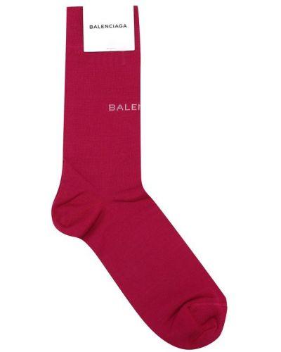 Розовые носки с логотипом Balenciaga