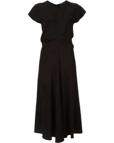 Платье миди с V-образным вырезом на тонких бретелях Proenza Schouler