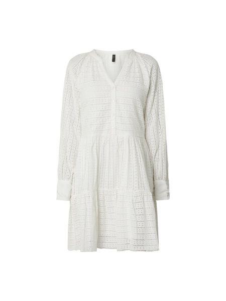 Biała sukienka rozkloszowana koronkowa Y.a.s