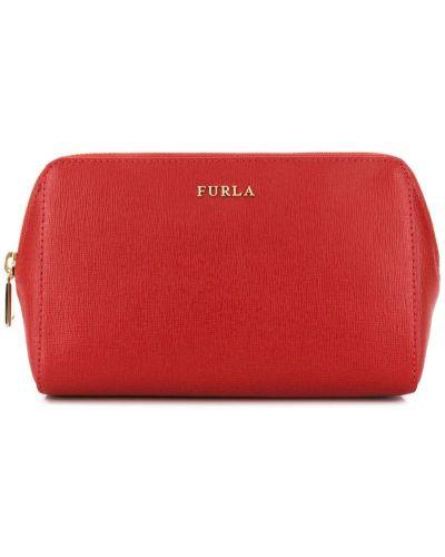 Косметичка на молнии красный Furla