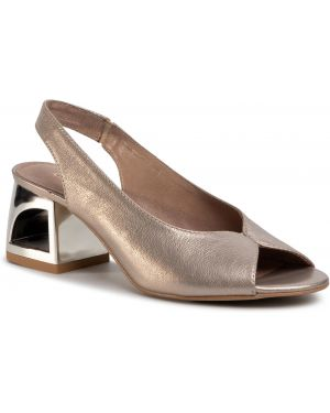 Złote sandały Quazi