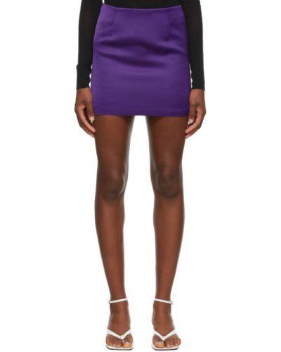 Сатиновая фиолетовая юбка мини Georgia Alice