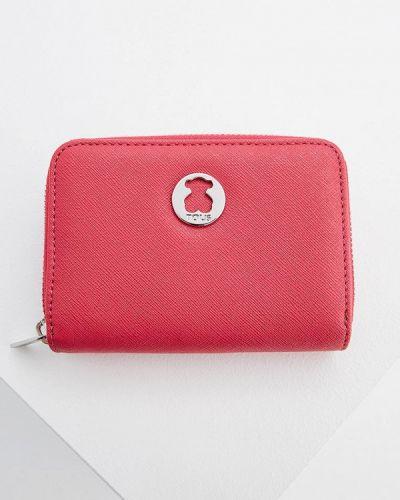Кожаный кошелек - розовый Tous