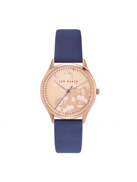 Złoty zegarek granatowy Ted Baker