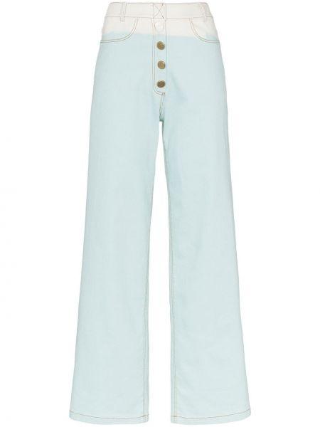 Расклешенные джинсы на пуговицах Rejina Pyo