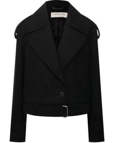 Шерстяная куртка - черная Dries Van Noten
