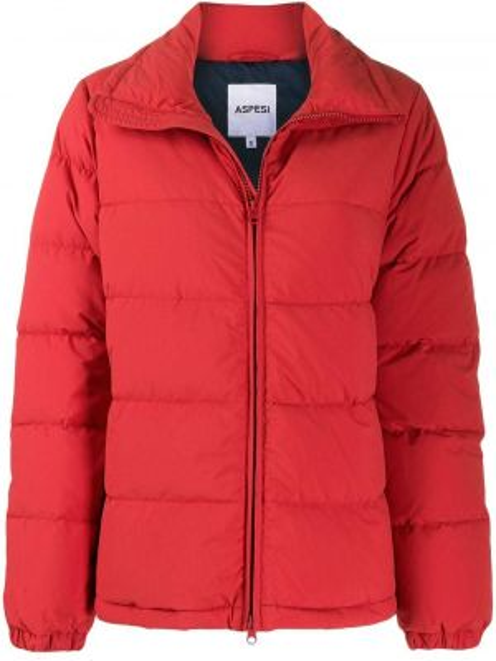 Куртка на молнии красная Aspesi