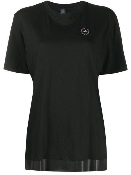 Прямая с рукавами черная спортивная футболка Adidas By Stella Mccartney