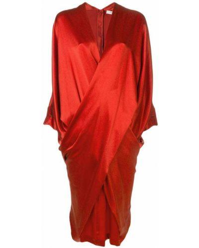 Однобортное приталенное драповое платье на молнии Poiret