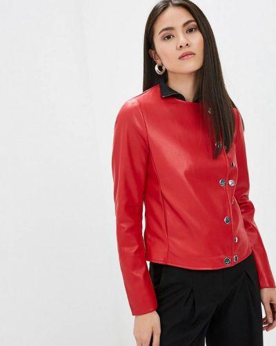 Кожаная куртка - красная Camomilla Italia