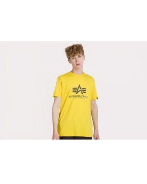 T-shirt bawełniana - żółta Alpha Industries