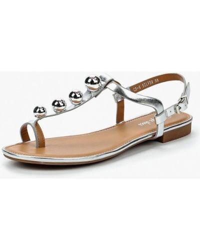 Сандалии серебряного цвета Style Shoes