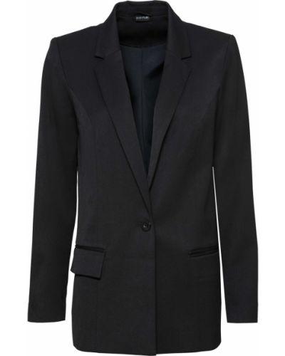 Пиджак черный на пуговицах Bonprix