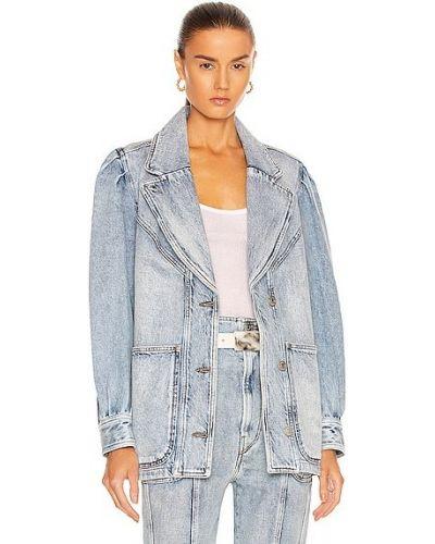 Синяя куртка с карманами Isabel Marant étoile
