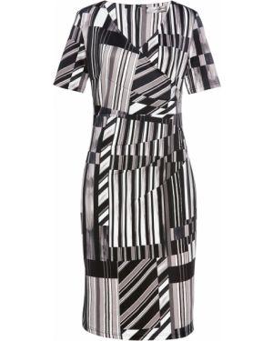 Платье мини с V-образным вырезом со складками Bonprix
