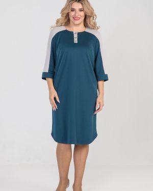 Платье мини на пуговицах со вставками Luxury