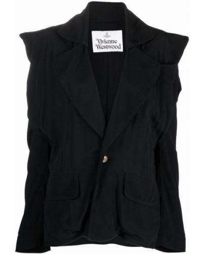 Длинная рубашка - черная Vivienne Westwood