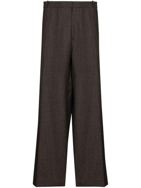 Свободные коричневые со стрелками свободные брюки свободного кроя Lou Dalton