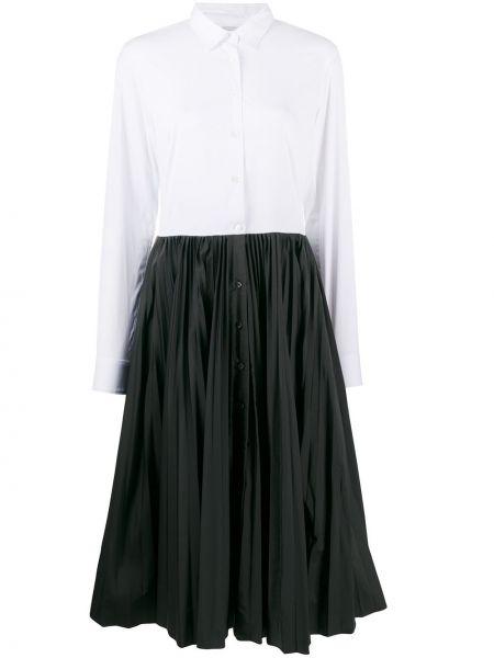 Черное классическое платье макси с длинными рукавами с воротником Sara Roka