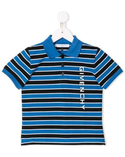 Рубашка с узором в полоску Givenchy Kids