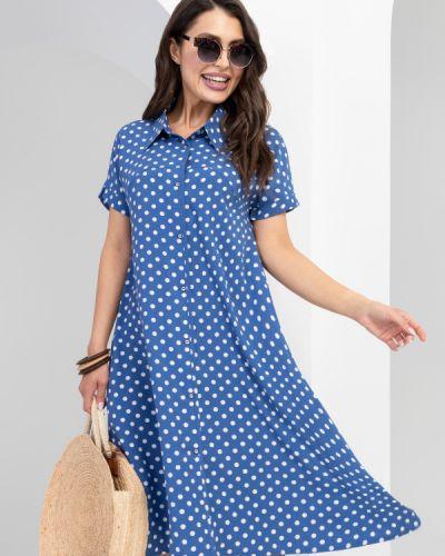 Свободное платье на пуговицах с воротником свободного кроя Charutti