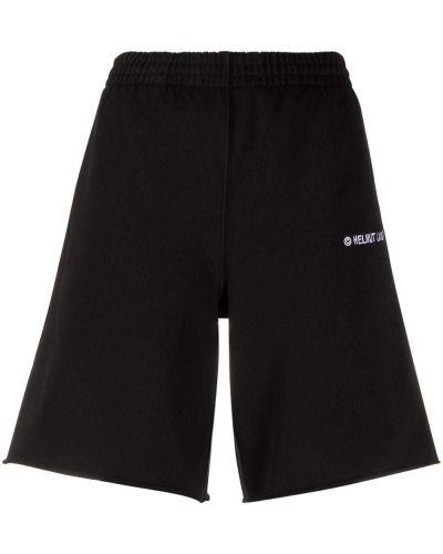 Трикотажные черные шорты с карманами Helmut Lang
