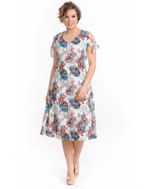Платье с поясом с V-образным вырезом платье-сарафан Merlis
