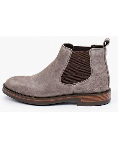 Коричневые велюровые ботинки Mascotte