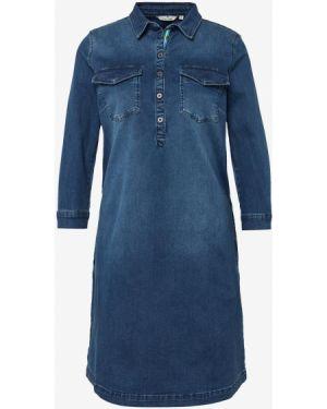 Джинсовое платье на пуговицах с вырезом Tom Tailor
