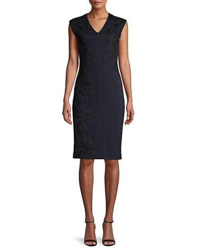 Платье-футляр без рукавов с подкладкой с вышивкой Donna Karan