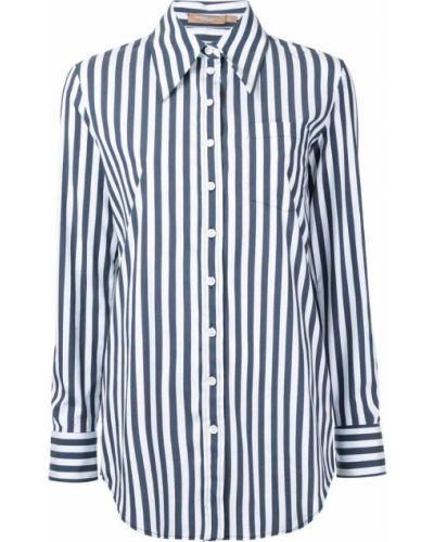 Рубашка в полоску синяя Michael Kors Collection