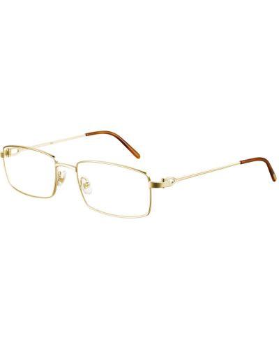 Żółte złote okulary Cartier